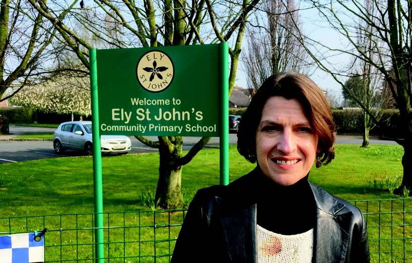 Paola Trimarco at an Ely School