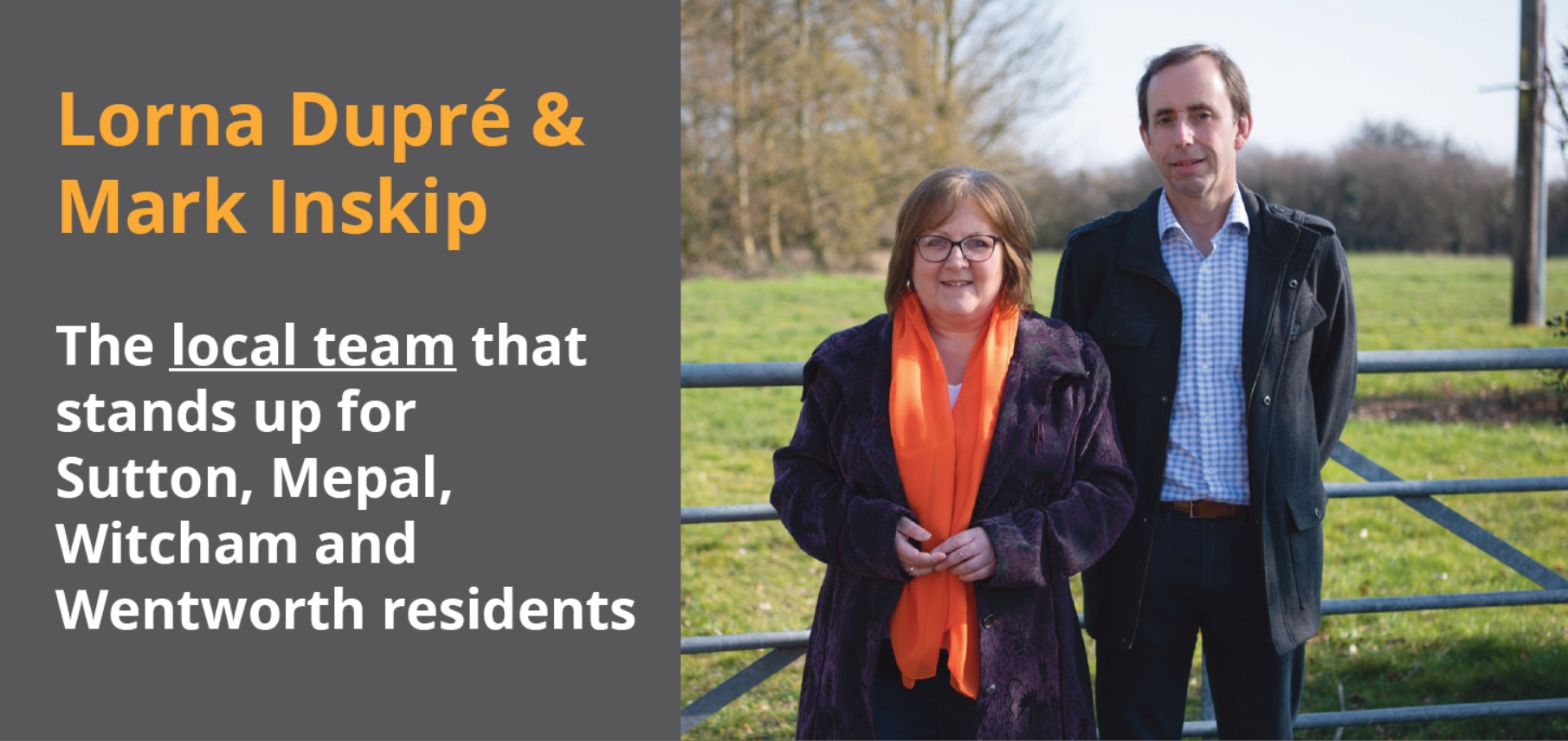 Lorna Dupre and Mark Inskip - Your Lib Dem Candidates for Sutton