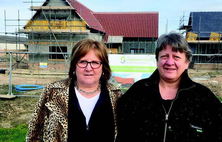 Lorna Dupre and Doris Brenke at a building societu