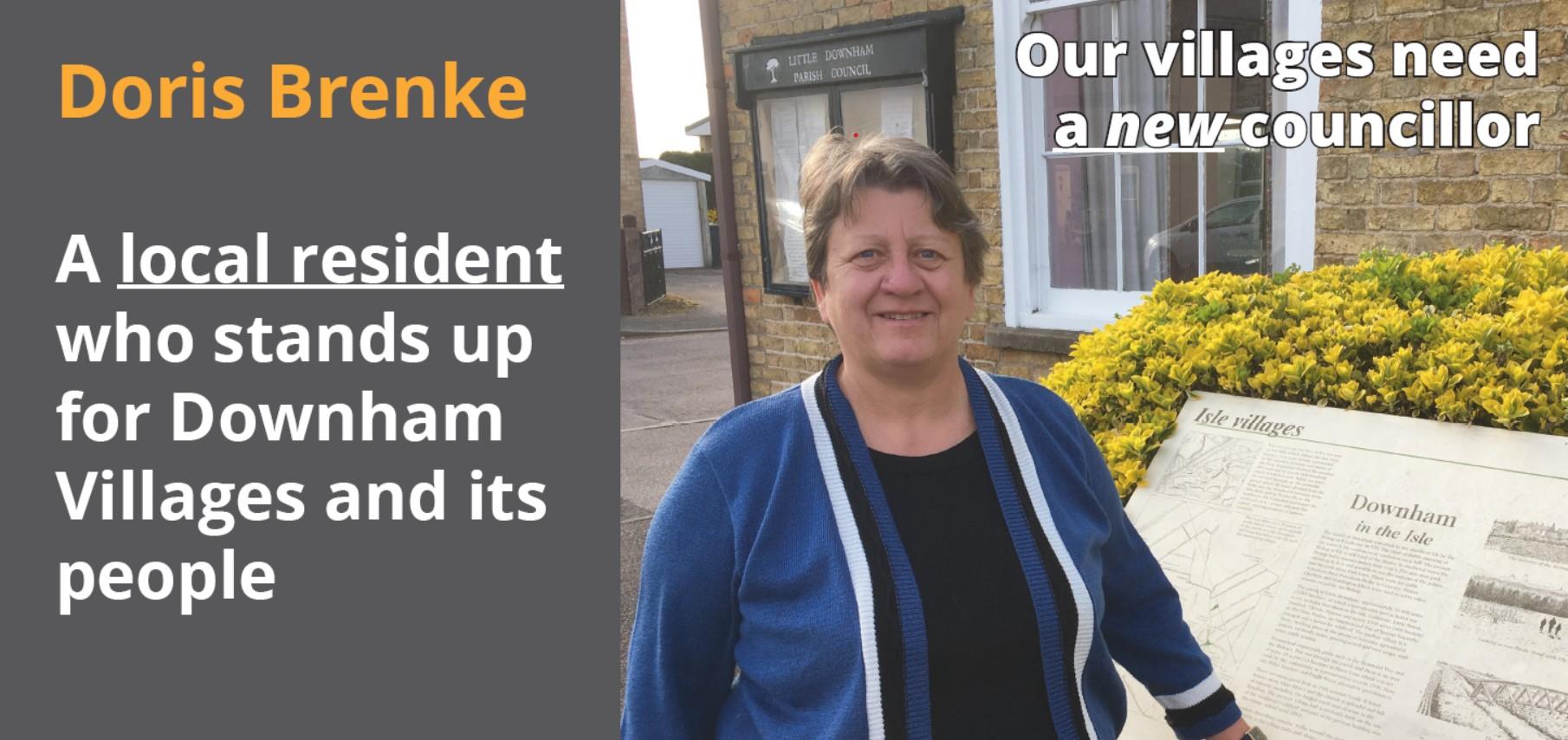 Doris Brenke your Lib Dem Candidate for Downham Villages