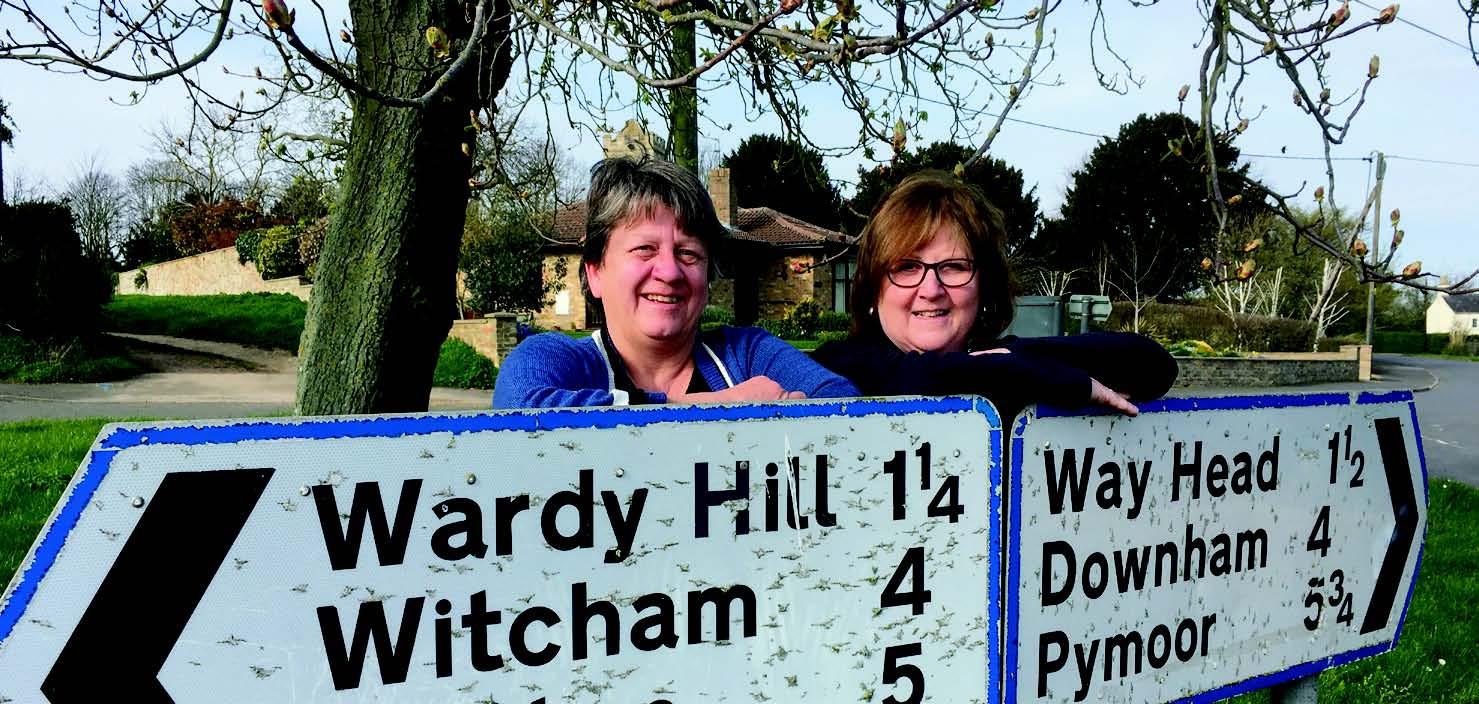 Doris Brenke with Lorna Dupre - Downham Villages