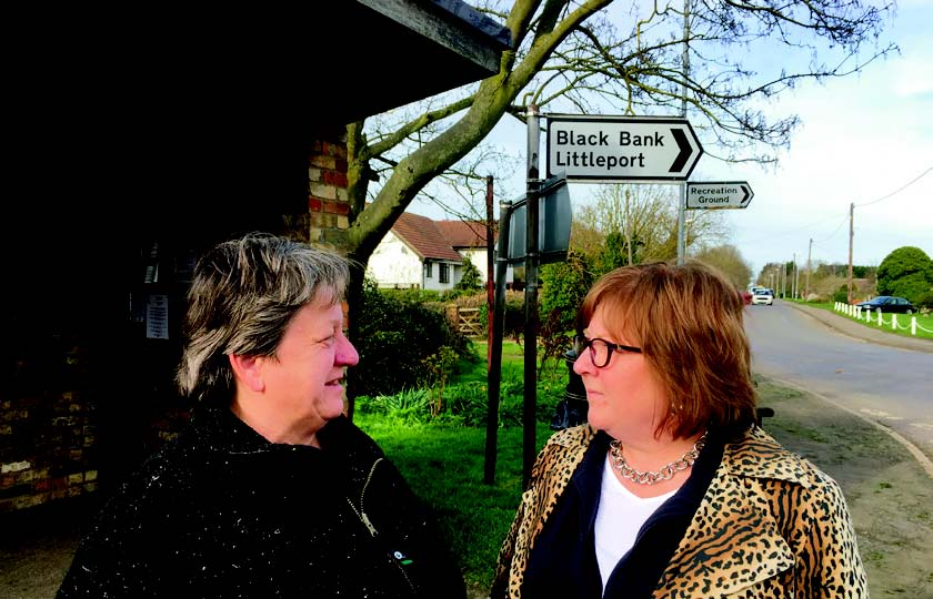 Doris Brenke and Lorna Dupre looking for the missing buses
