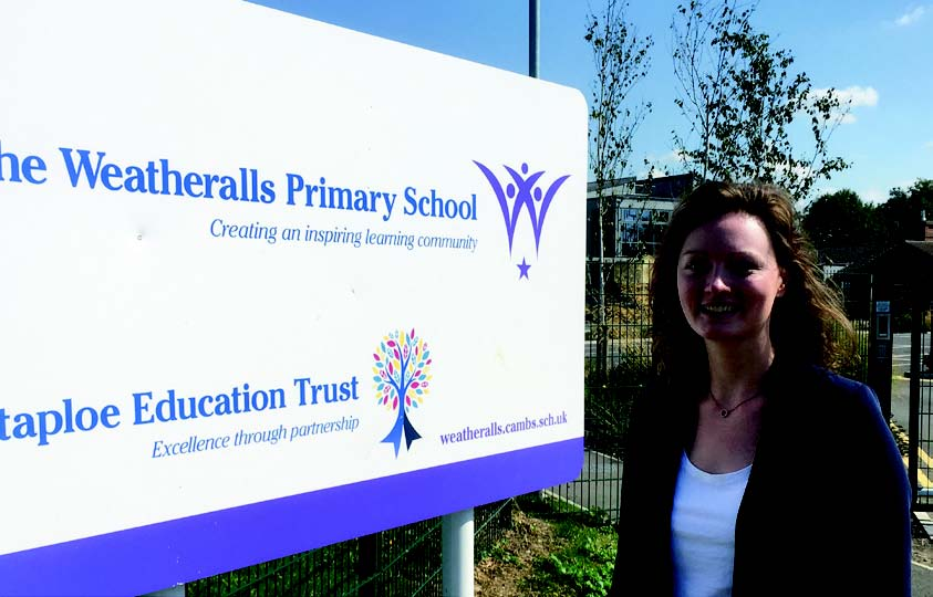Victoria Charlewsorth at a school