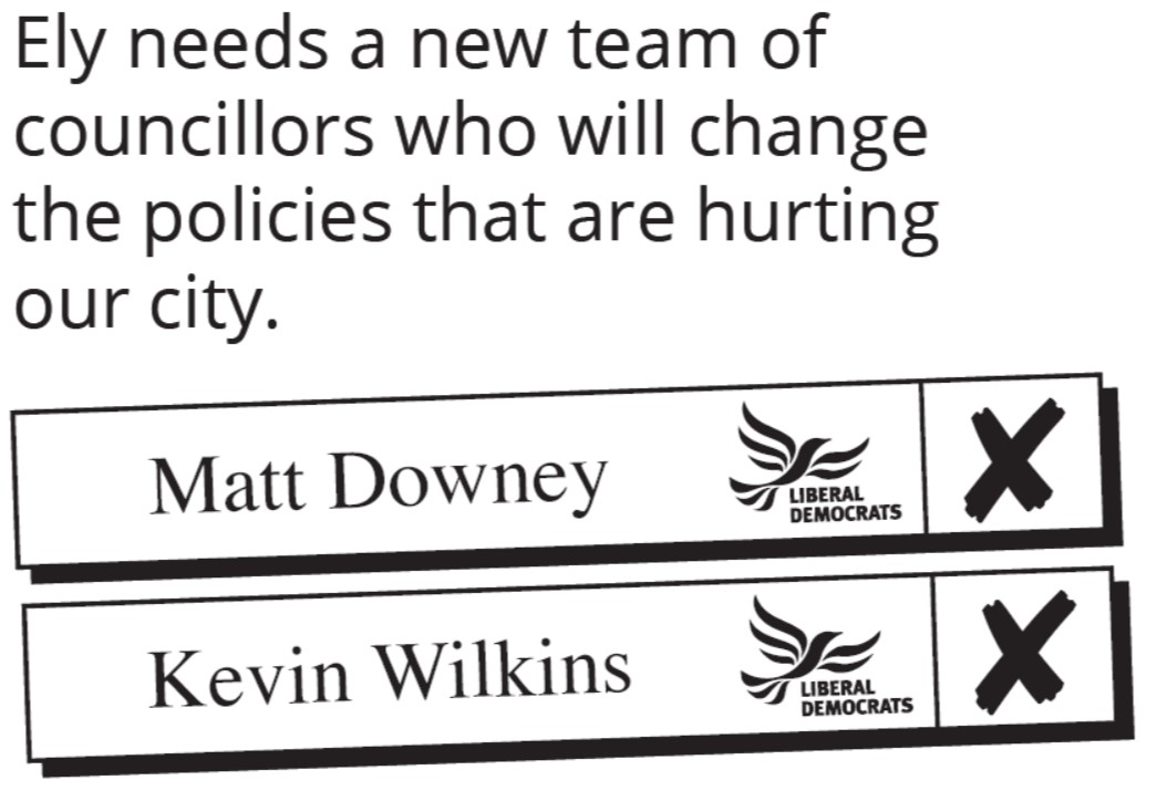 Vote Kevin Wilkins and Matt Downey on May 2nd 2019
