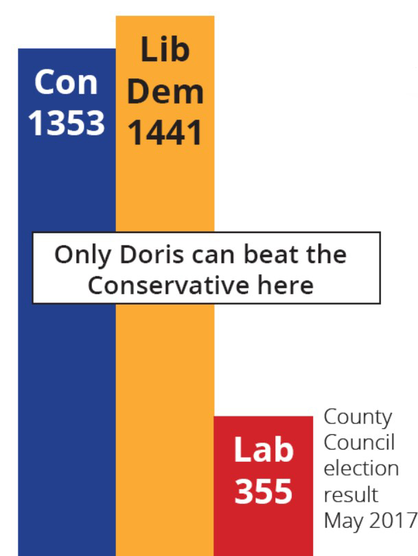 County Council Results May 2017 - Only Doris can beat the Conservatives Here