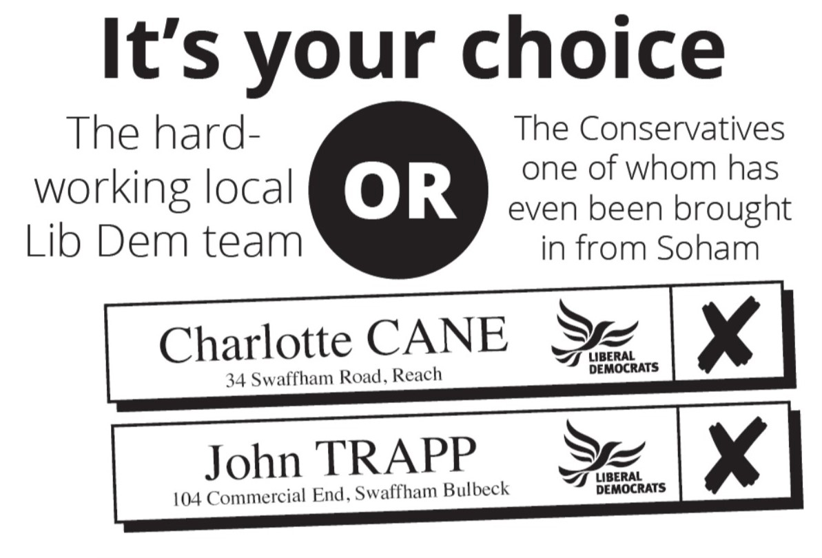 Vote John Trapp and Charlotte cane on May 2nd