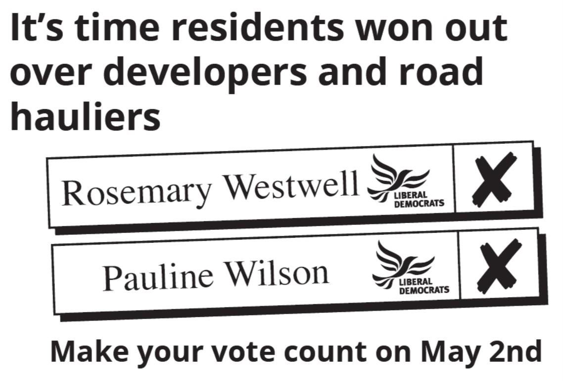Stretham Ward - Vote Rosemary Westwell and Pauline Wilson Liberal Democrat