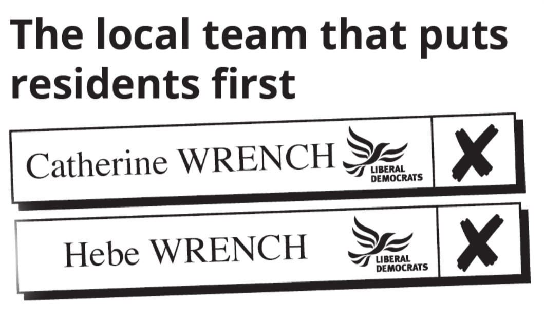 Burwell Ward - Vote Catherine Wrench and Hebe Wrench Liberal Democrat
