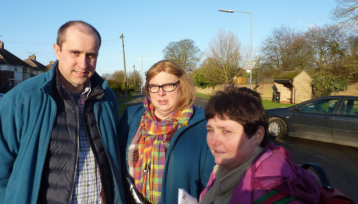 Jonathan Chatfield with Alison and Christine Whelan at Lynn Road, Ely