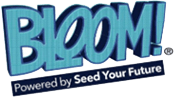 logo of Bloom®, powered by Seed Your Fuure