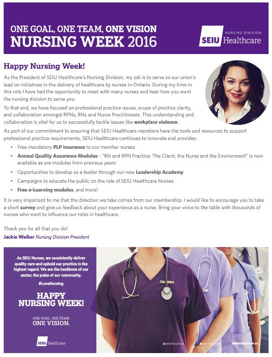 seiu healthcare nursing division newsletter