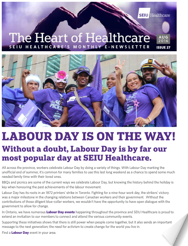 seiu healthcare august newsletter