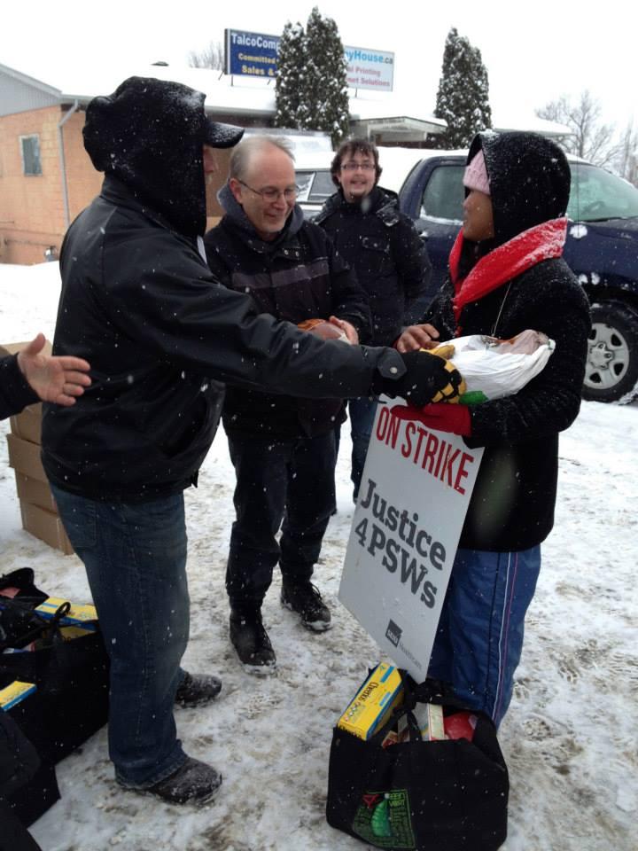 Operation Christmas Cheer generosity during 2013 strike