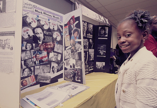 SEIU Healthcare Black History Month Celebration 2015 Youth at a display