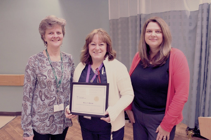 Congratulations to Kelly Brew on 10-year preceptor certificate of excellence