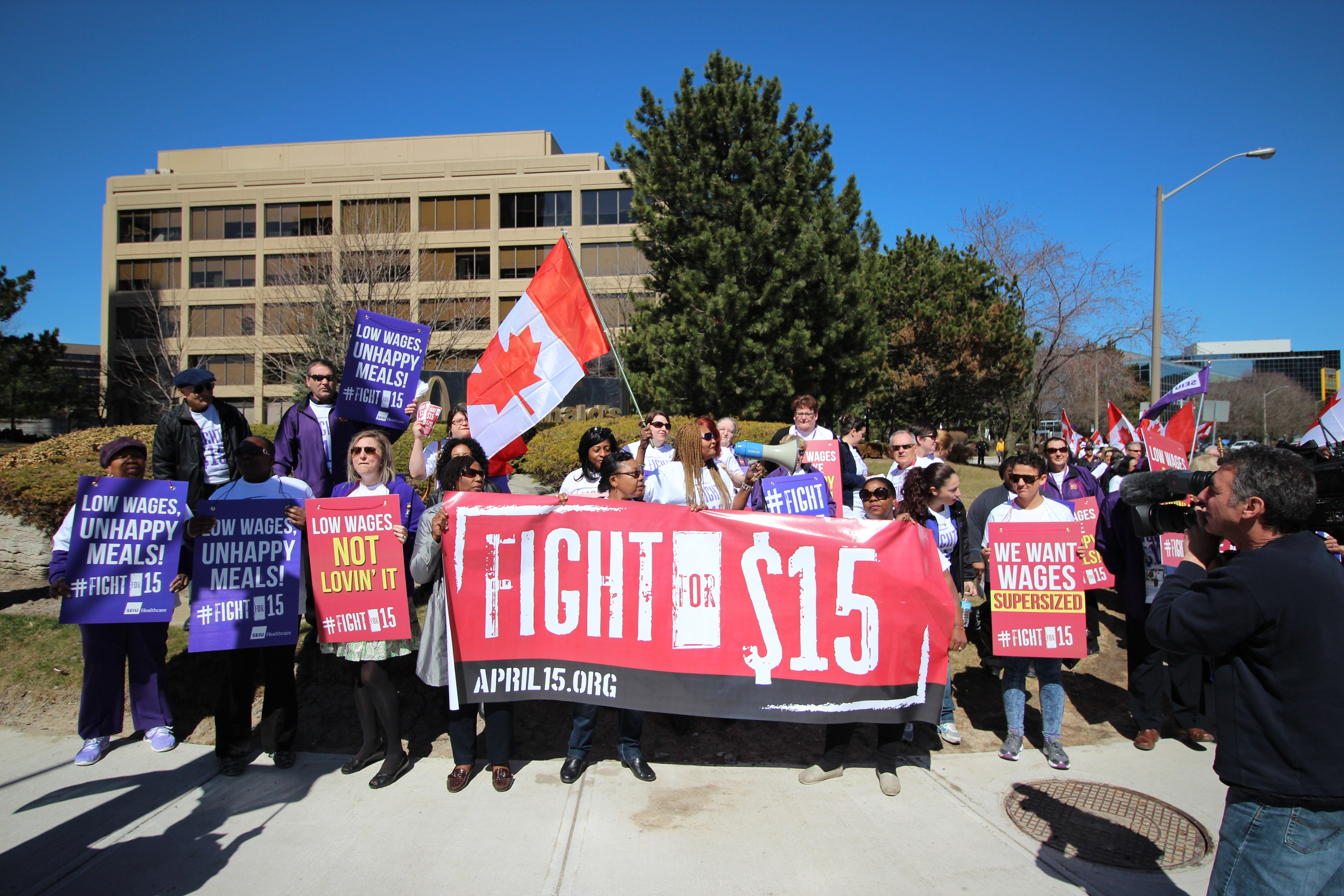 Fight for $15 in Toronto
