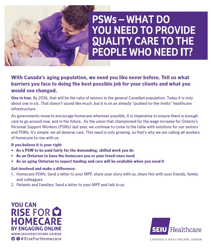 SEIU Healthcare Rise for Homecare Flyer For Public 2
