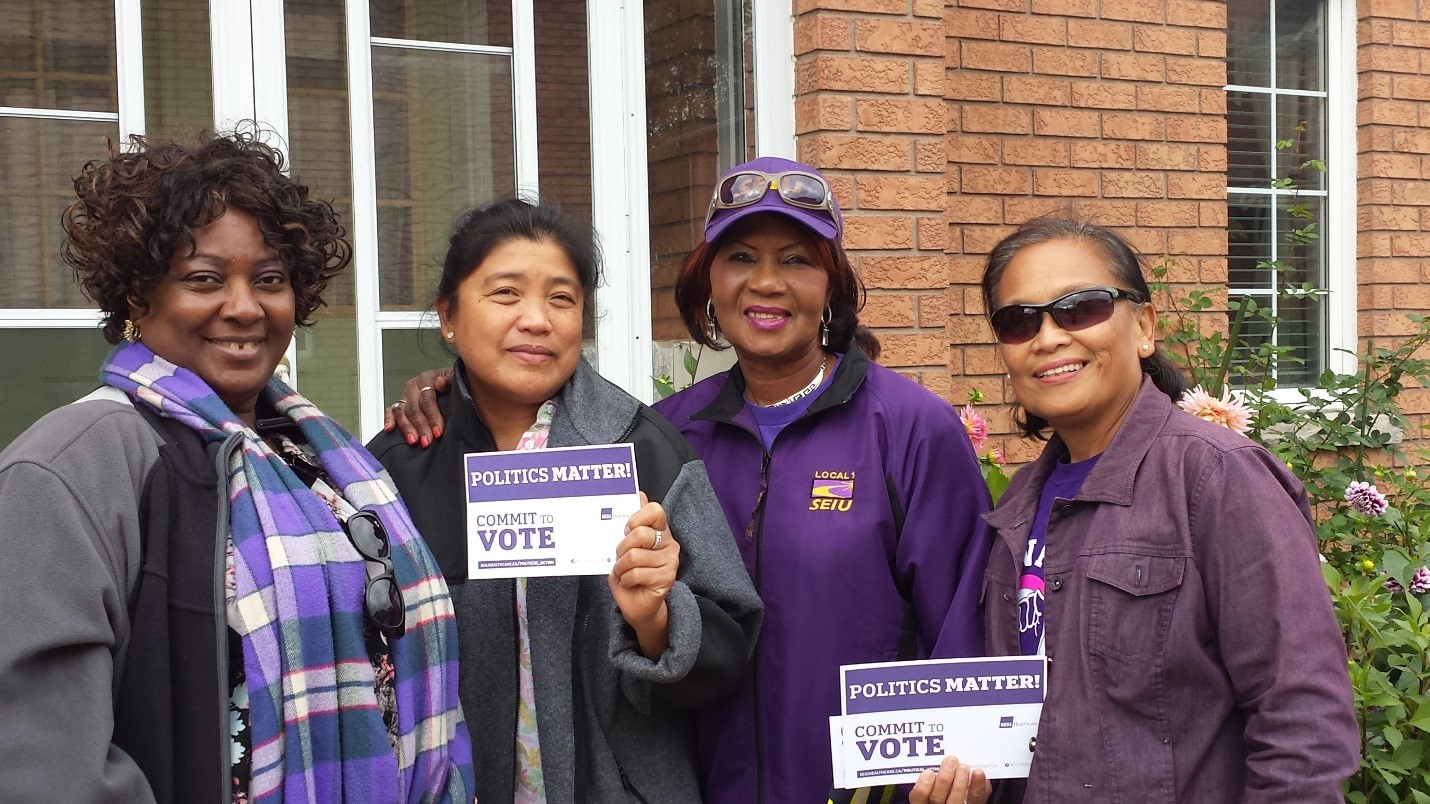 SEIU Healthcare members canvassing