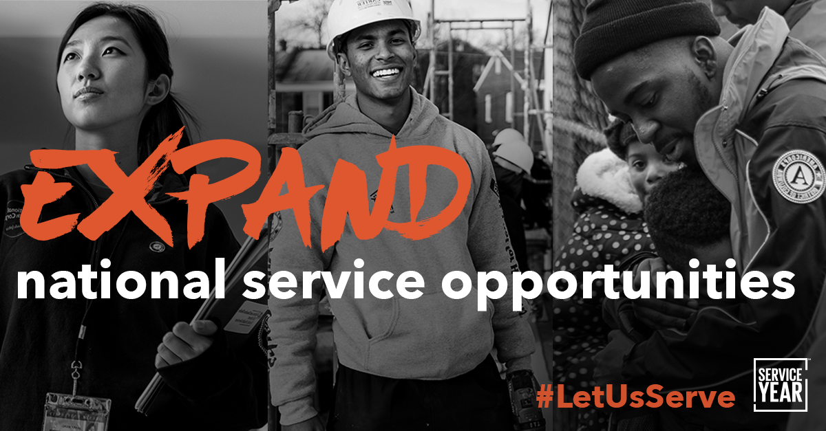 Share to tell Congress to expand national service!
