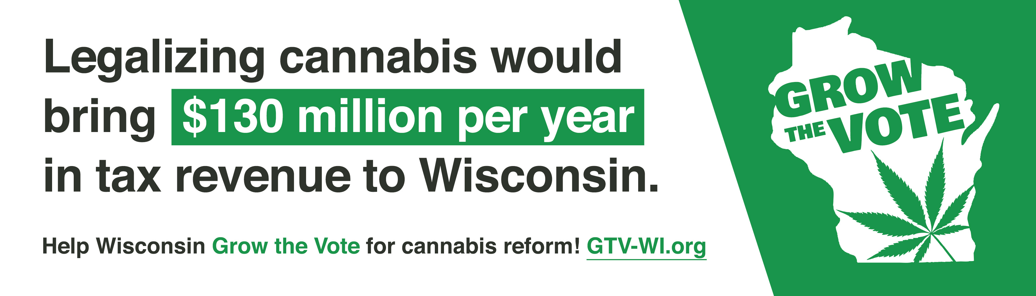 Legalizing cannabis would bring $130 million per year in tax revenue to Wisconsin