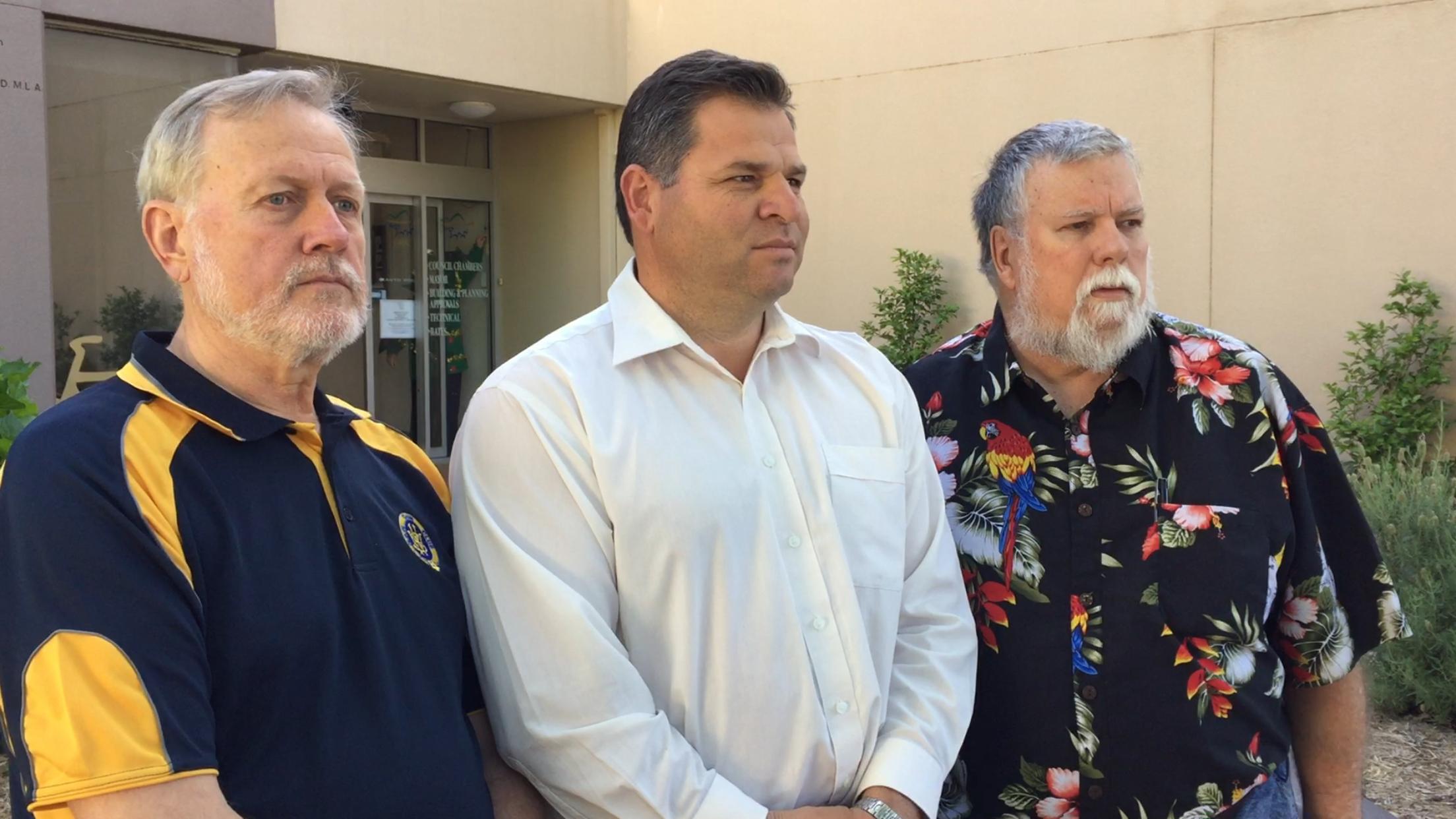 Robert Borsak, Robert Brown and Philip Donato