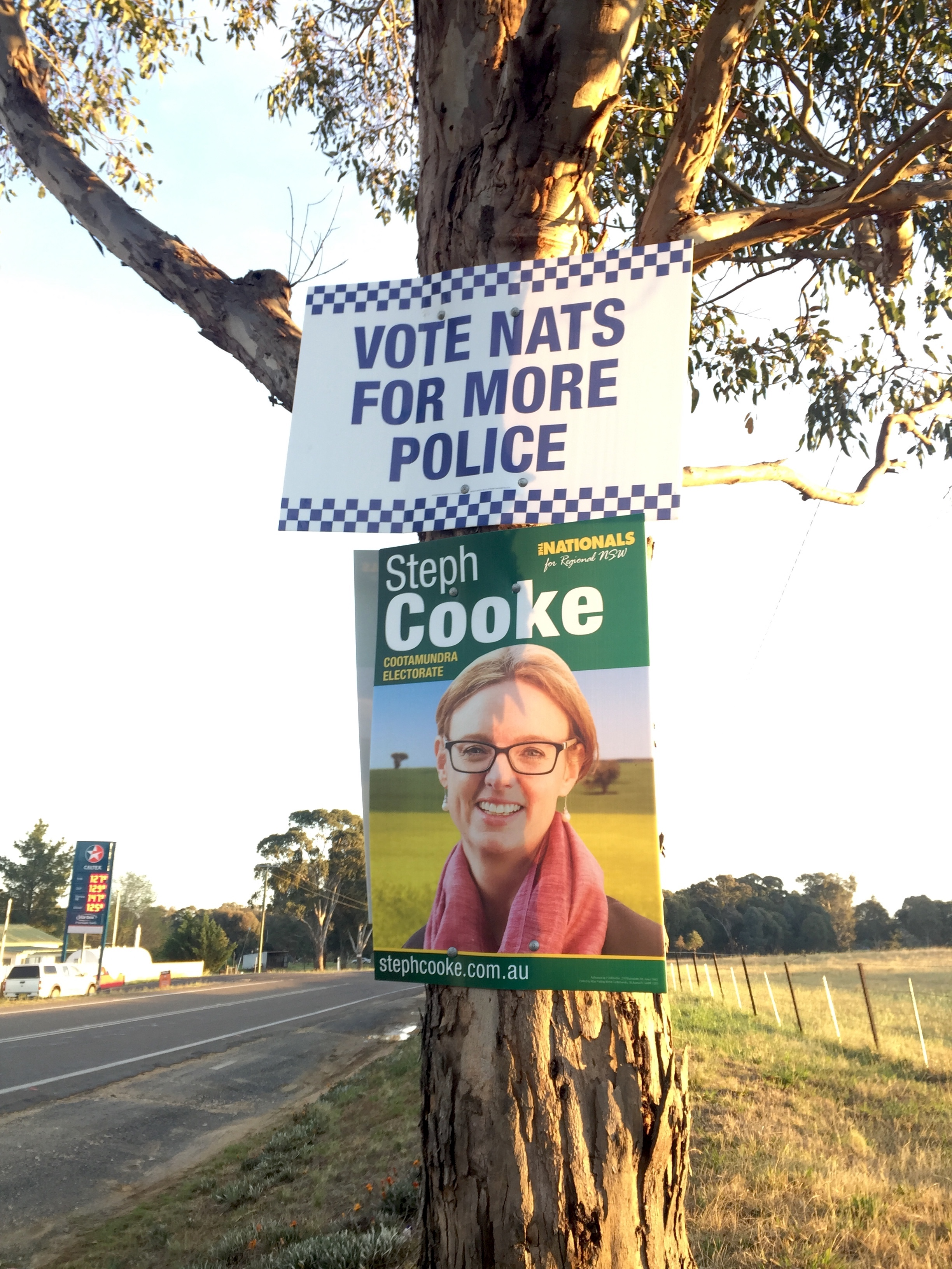 National Party Signage on Police