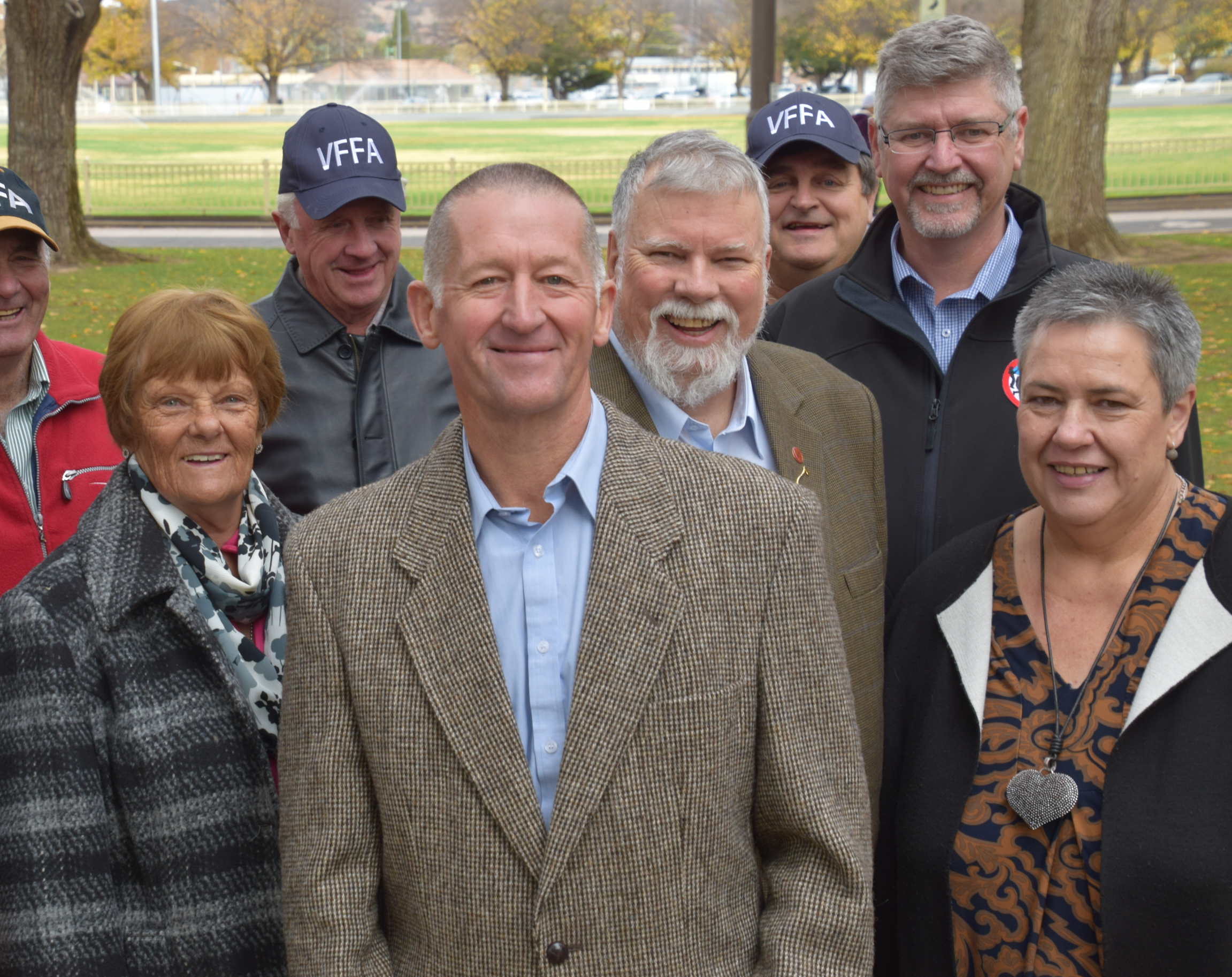 Mick Holton and supporters in Queanbeyan