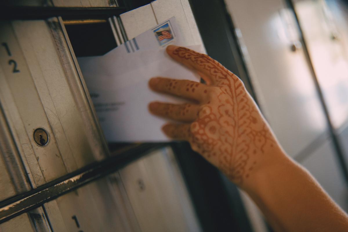 Henna Hand and Mail