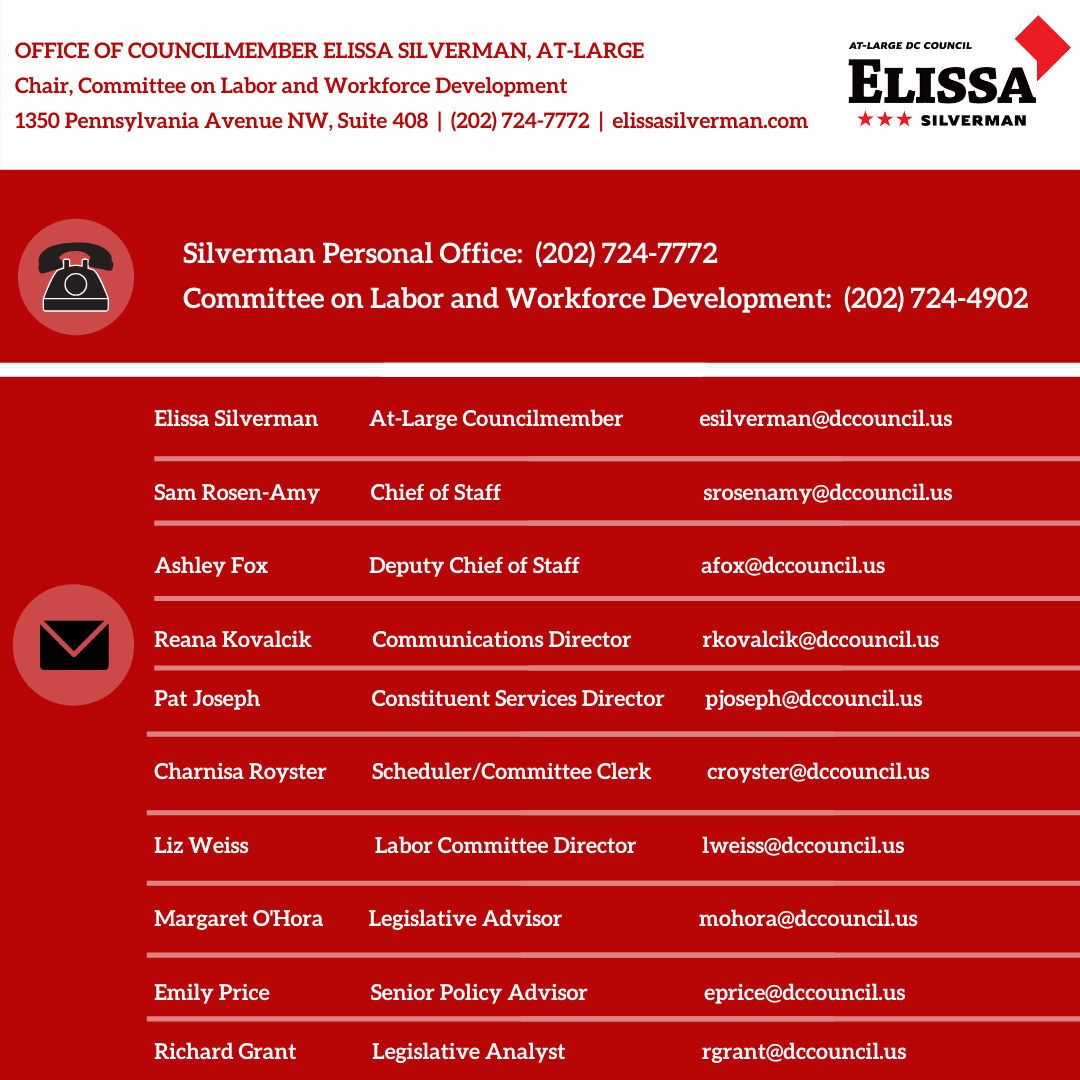List of email addresses for CM Silverman's office
