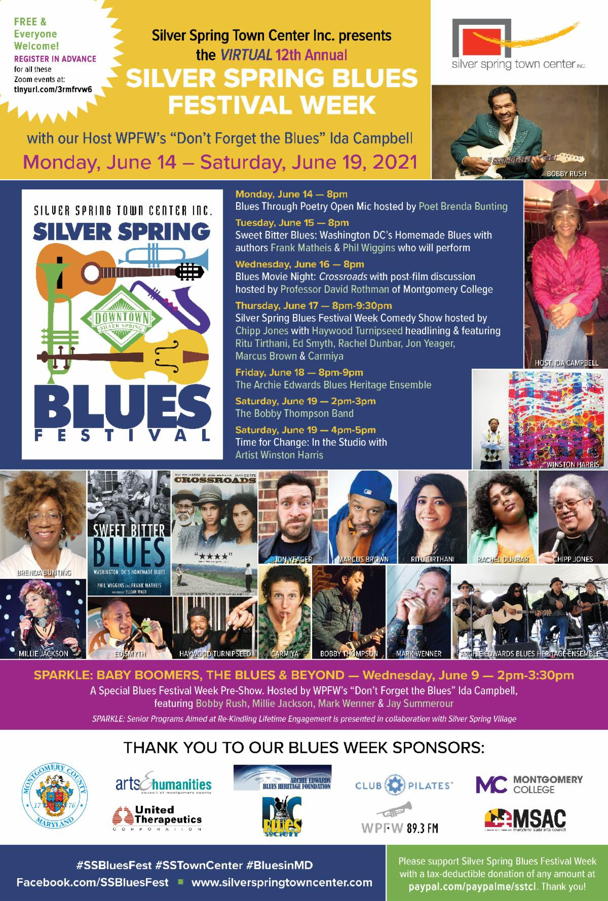 Silver Spring Town Center Blues Week