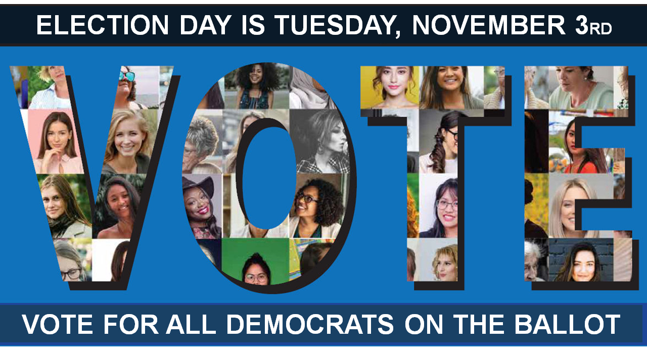 Vote for all Democrats on the Ballot