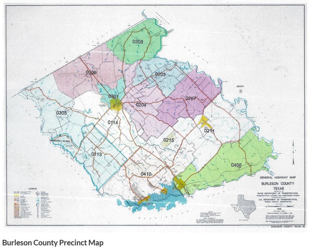Burleson County Precinct Map