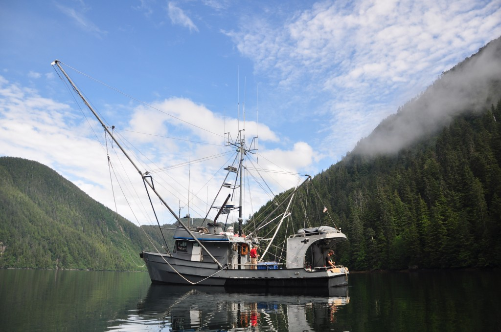 The Alexa K at anchor. Photo by Berett Wilber