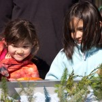 Two young scientists at the 2013 Earth Week event for kids.