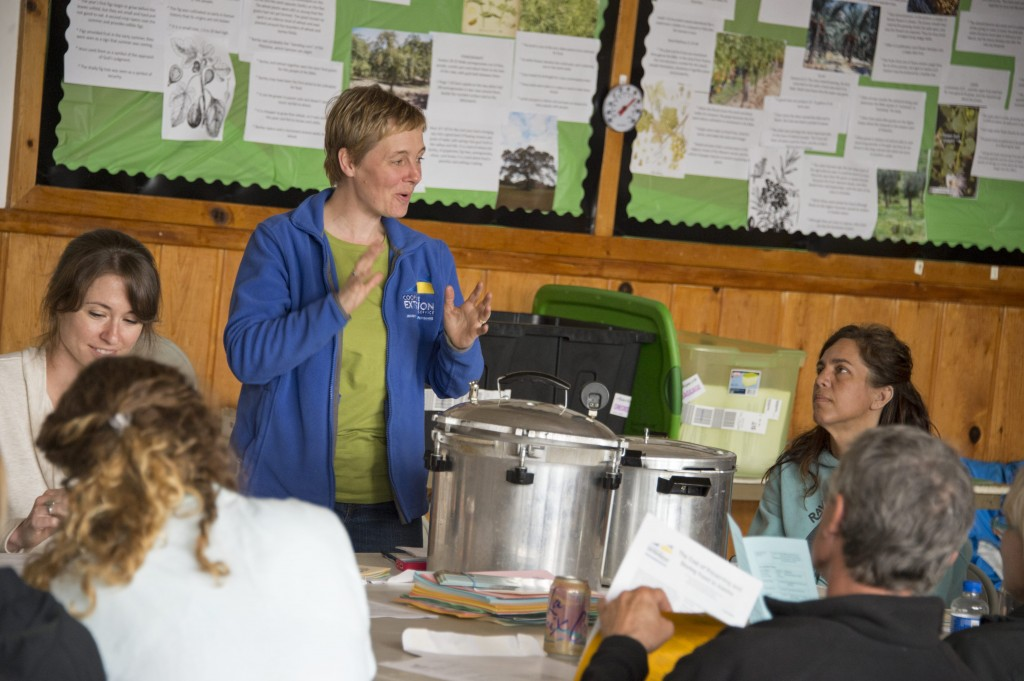 Sarah Lewis, UAS Extension, leads the 'canning the harvest' class. PHOTO: Amy Gulick