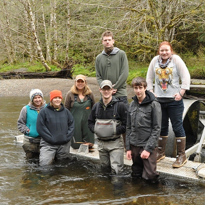 Photo for Local Students Wade Streams in the Tongass to Learn Skills in Fisheries: Twelvemile Creek