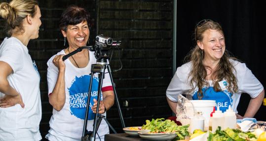 Festival Volunteers at Cooking Demonstration