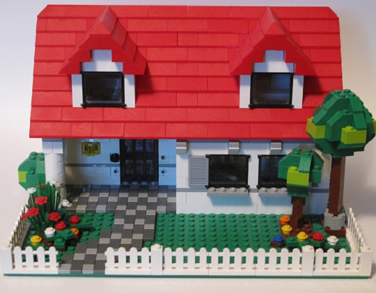 Lego house and garden