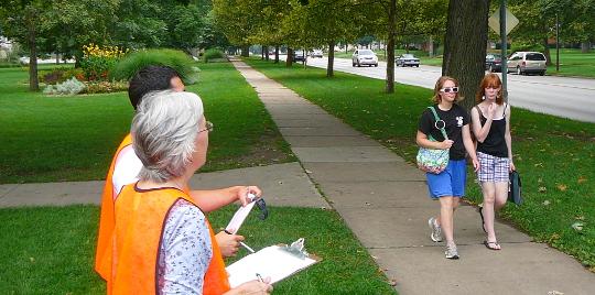 Calling volunteers for a Hobart pedestrian count