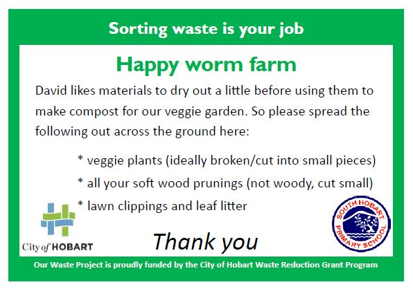 Poster to help people manage their green waste