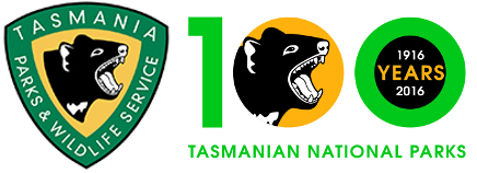 Tasmanian Parks and Wildlife Service logo 100 years