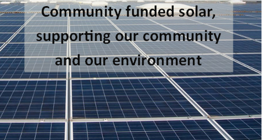 Solar panels to support our community