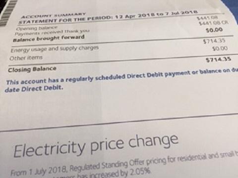 Aurora energy bill