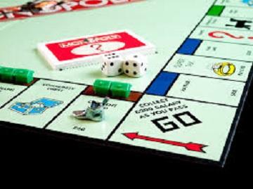Monopoly board.