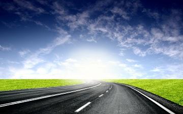 Road heading into the horizon.
