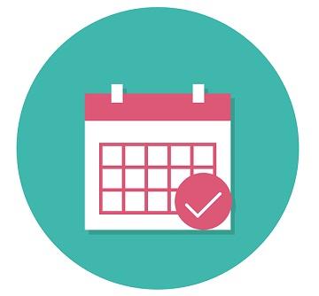 Calendar to mark the date.