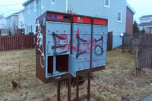 Consolidated Mailbox: Crime is a problem