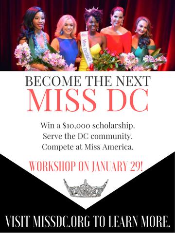 Miss DC 2017 flier