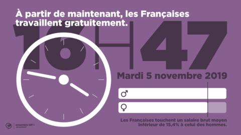 Les Françaises travaillent gratuitement à partir du 5 novembre