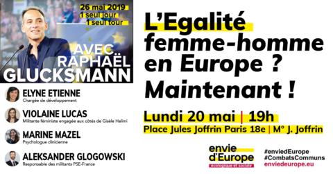 L'Egalité Femmes-Hommes en Europe ? Maintenant !